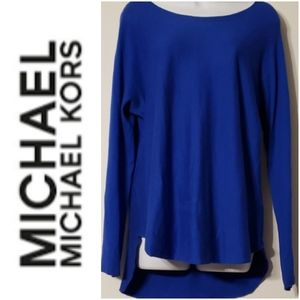 Michael Kors Blue Long Sleeve Tunic Sweater M